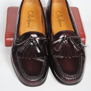COLE HAAN Pinch Shawl Bow Dress Shoes Burgundy